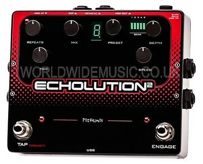 Pigtronix  Echolution 2 - Programmable Multi-Tap Modulation Delay Effects Pedal