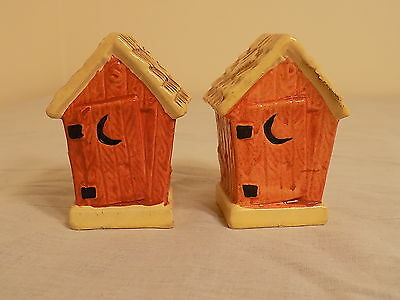 """Vintage """"Outhouses"""" Salt & Peppers!  Made in Japan!"""