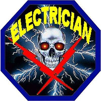 hard hat stickers, hardhat stickers ELECTRICIAN CE3A