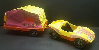 Vintage 1972 Barbie Dune Buggy & Pop Up Camper