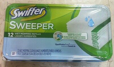 Swiffer 35154 12/PACK SWIFFER WET MOPPING REFILLS CLOTHS RECHARGES DE LINGES