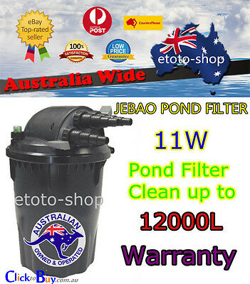 Jebao Auto Clean CF-30 11W UV External Biological Pond Filter 12000L