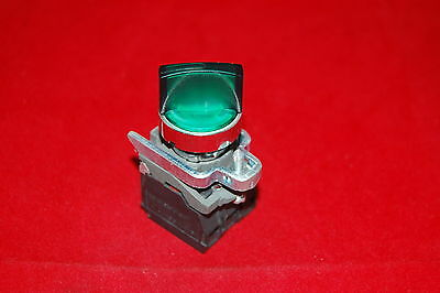 1PC 22mm ILlUMINATED Selector switch 2 Position Fits Green XB4BK123M5 220V LED