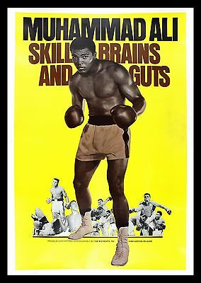 MUHAMMAD ALI SKILL BRAINS AND GUTS * CineMasterpieces 40X60 BOXING MOVIE POSTER