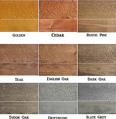 Safeway - Exterior Woodstain - Fence Shed Decking Wood Stain Dye - Makes 5L