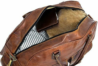 Women's New Vintage Leather Travel Luggage Duffel Shoulder Gym Weekend Bag