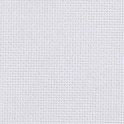Aida 14 Count White Cross Stitch Fabric Material 100% Cotton