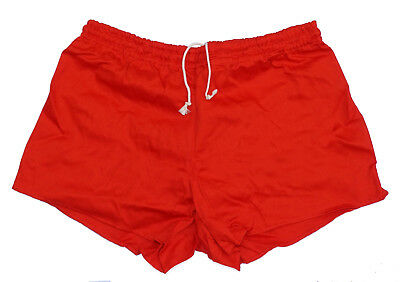 Red Ex-Army Shorts NEW vintage 1980s PT hot pants retro sports