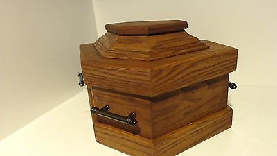 small pet coffin ,urn, casket