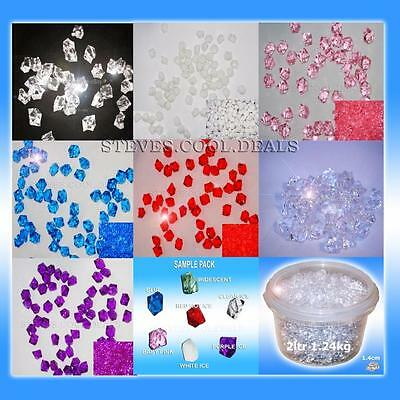 Table Confetti Sprinkles ACRYLIC CRYSTAL ICE Decoration Wedding Scatter Gems