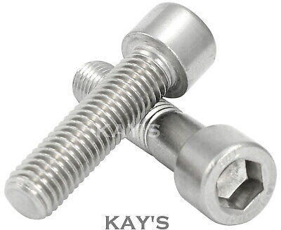 M5 5mm CAP SCREWS ALLEN KEY HEX SOCKET HEAD BOLTS A2 STAINLESS STEEL DIN 912