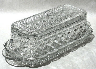 Anchor Hocking WEXFORD Early American Pressed Glass Butter Dish
