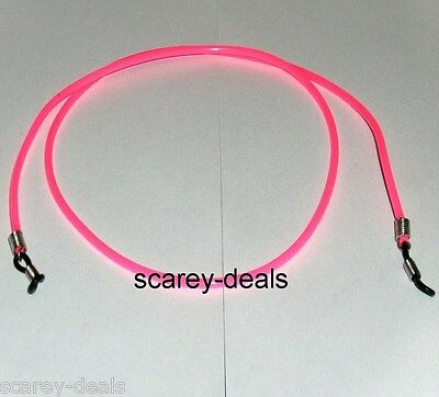 """3mm 28"""" PINK spectacles holders RUBBER glasses neck strap cords 1ST CLASS POST"""