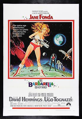 BARBARELLA * CineMasterpieces ORIGINAL MOVIE POSTER SCI FI SPACE HOT BABE 1968