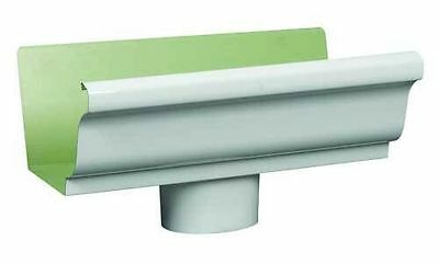 "Euramax/Amerimax 27010 WHITE 5"" ALUMINUM END WITH DROP GUTTERS EXTREMITE DRAIN"
