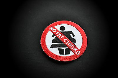 No Fat Chicks,Patch,Aufnäher,Aufbügler,Chopper,Iron On,Badge,Harley,Motorcycles