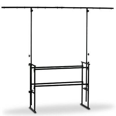 4ft DJ Deck Stand Heavy Duty Black Metal Overhead Lighting Bar