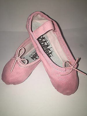 NEW CANVAS Quality Ballet Dance Shoes split sole PINK Fairy Party shoes MDS