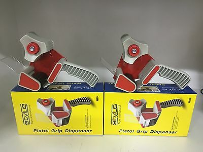 2 Brand New packing tape dispenser top quality commercial heavy duty/household