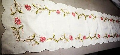 Long Embroidery Table Runner Vintage Home Decoration 35x175cm