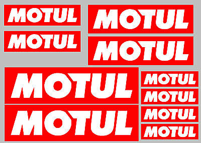 MOTUL decal set 9 quality printed and laminated motorcycle stickers