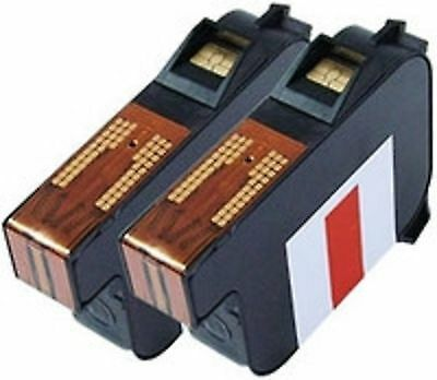 Ultimail 60 / 65 / 90 / 95 Replacement Red FP Franking Ink Cartridge - PAIR