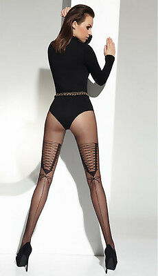 """Mock Suspender Stockings-Tights- """"nelly""""20 Denier -Top Quality"""
