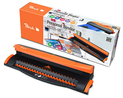 Binding Machine Peach A4 Comb Personal Punches 4 Binds 50S