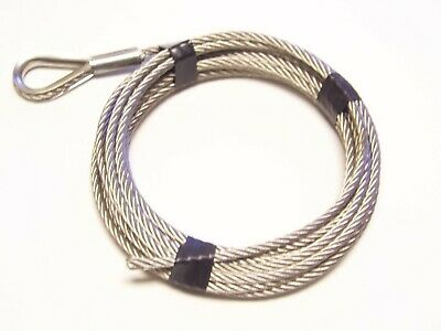 """1/4"""" x 25 ft, 7x19 Stainless Steel Winch Cable"""