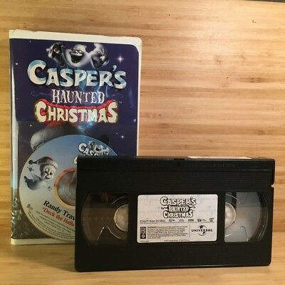 RARE Casper's Haunted Christmas [Animated Movie with CD] VHS Tape 2000 VG! #K51