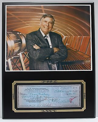 Gene Roddenberry Star Trek Reproduction Signed Limited Edition Check  Display
