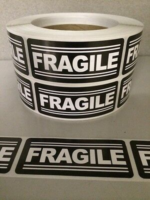 100 1.25 x3 FRAGILE Labels Stickers for shipping supplies office products EBAY