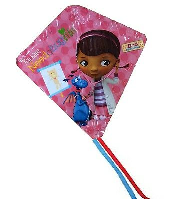 Girls Doc McStuffins Kite Easy to Fly Single Line Fun Kids Toy Colourful