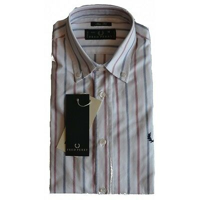 Camicia Fred Perry Uomo Men shirt  slim fit button down30213292