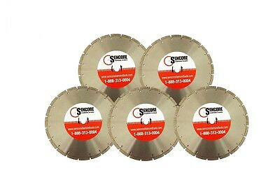 "14"" Segmented Diamond Saw Blades (5pk) for Concrete Masonry + FREE SHIPPING"