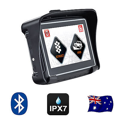 "4.3"" Inch Waterproof GPS 8GB Bluetooth Motorcycle & Car Street + Offroad Maps"