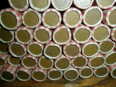 1 Roll of 1909-1958 Wheat Pennies - 50 Penny Cent Coins
