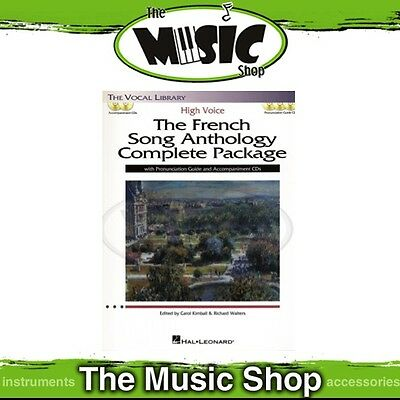 New The French Song Anthology Complete Package - Book with 5x CDs - High Voice