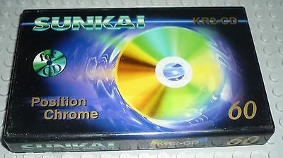 Cassette K7 audio Tape - SUNKAI 60 chrome for CD - neuf sealed