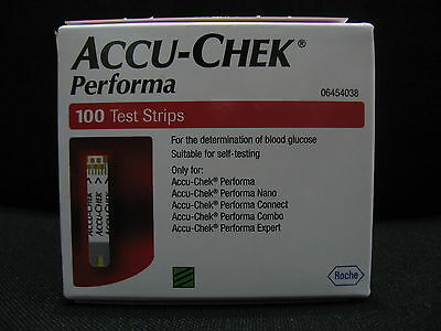 Accu Chek Performa Test Strips - Pack of 100 Bandelettes Expiration 31 Dec 2018