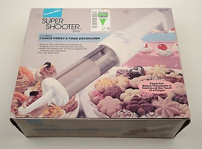 Super Shooter Cookie Press & Food Decorator Proctor Silex Complete Never Used!