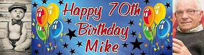 Birthday Party Banner Poster personalized with your own photo & text