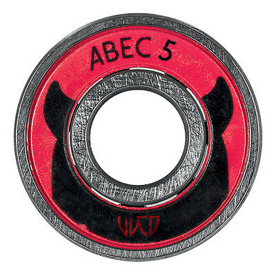 8x Wicked WCD ABEC 5 Kugellager / Bearings 608! made by Powerslide  NEU