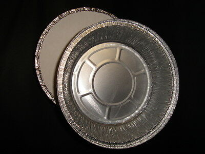 """50 x 7"""" Round Foil Container FAST FOOD TAKEAWAY BAKERY KEBAB CATERING  (0309/10)"""