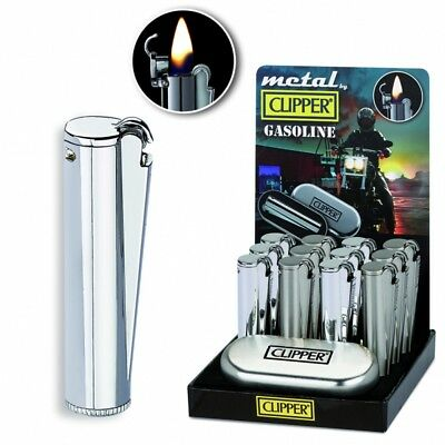 Clipper METAL GASOLINE a Benzina con custodia Metallica disponibili 2 colorazion