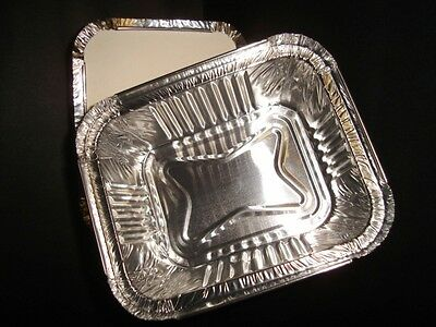 100 x Small 2a Foil Container (Heavy Duty) FAST FOOD TAKEAWAY HOT FOODS(0302/10)