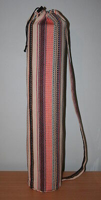 Handmade Colourful Cotton Yoga/Pilates Mat Bag with Carry Strap and Drawstring
