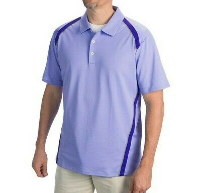 Adidas Golf Mens Climacool Performance Golf Polo Shirt Periwinkle Size Large