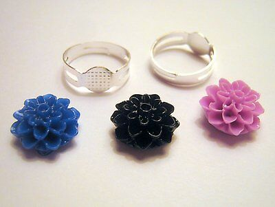 Silver Plated Adjustable Ring Cabochon Kit