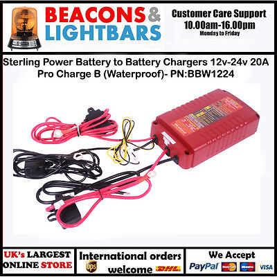 Sterling Power Battery to Battery Chargers 12v-24v 20A Pro Charge B (Waterproof)